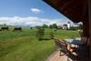 Terrasse mit Blick auf den Forggensee - Bio-Bauernhof, Bayern