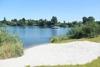 Privatstrand am Mühlensee klein aber fein, nur für Hotel- und Ferienhausgäste.