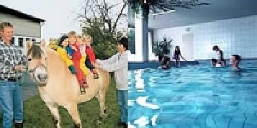 Urlaub auf dem Bauernhof mit hauseigenem Hallenbad. Viele Kinder haben hier schon während des Urlaubs schwimmen gelernt - Ferienwohnung , Diemelsee