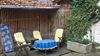 Innenhof, Sitzecke, Grill und Strandkorb