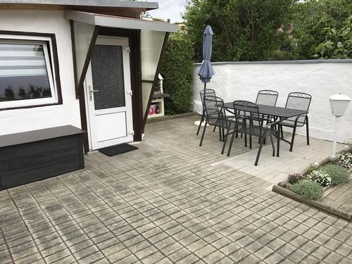Terrasse mit Grill - Ferienwohnung , Thale
